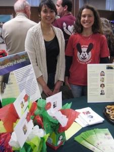 ICOA's table at the 2013 Alternative Gift Fair